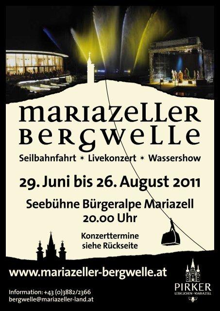 Bergwelle Flyer 2011 mit Programm und Preisen als PDF