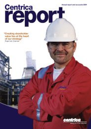Download 2004 Annual Report PDF - Centrica