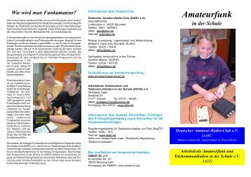 Amateurfunk in der Schule (Flyer download)