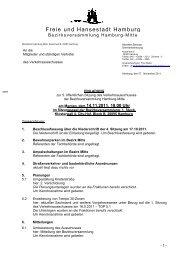 Freie und Hanse Freie und Hansestadt ... - Hamburg-Mitte-Dokumente