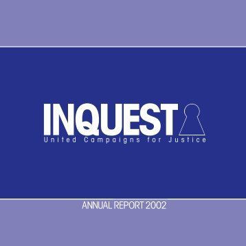 ANNUAL REPORT 2002 - Inquest