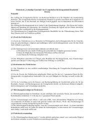 Satzung - Evangelische Kirche Bruchköbel