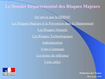 DDRM - 21,40 Mb - 24/10/2012 - Préfecture de l'Yonne