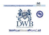 DWB Verbraucheraufklärung Finanzen.