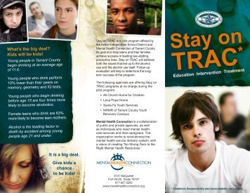 Stay on TRAC - Mental Health Connection