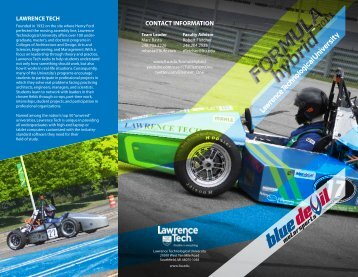 Formula Hybrid Brochure - Lawrence Technological University
