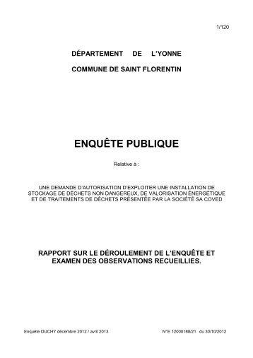 COVED Rapport CE - 0,70 Mb - Préfecture de l'Yonne