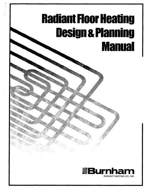 Burnham Radiant Floor Heating Planning