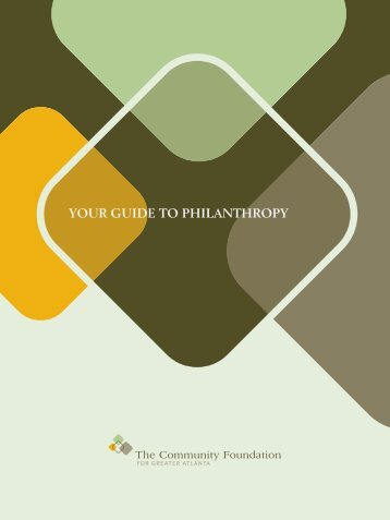 Your Guide to Philanthropy - The Community Foundation for Greater ...