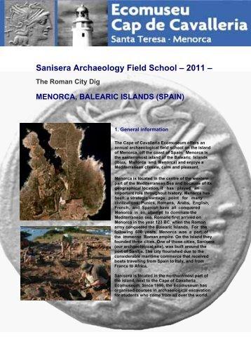 The Roman City Dig - Sanisera Field School