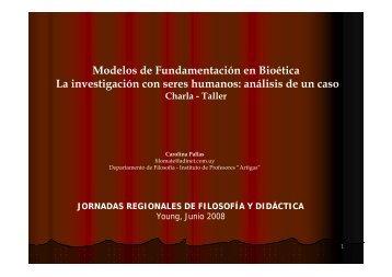 Modelos de Fundamentación en Bioética La ... - Uruguay Educa