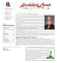 April 2013 Lamp - Aladdin Shriners
