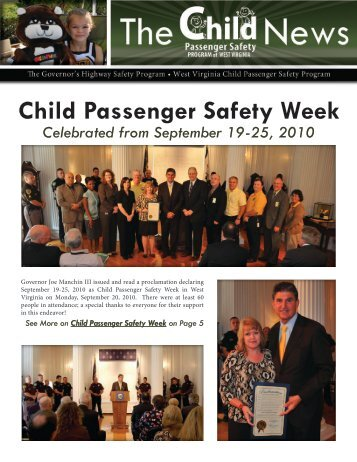 Child Passenger Safety Week - West Virginia Department of ...