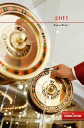 Annual Report 2011 (pdf, 7595 KB) - Casinos Austria