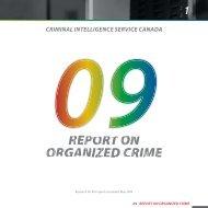 2009 Annual Report on Organized Crime in Canada