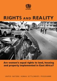 RIGHTS AND REALITY - UN-Habitat