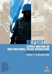 expert meeting on multinational peace operations - RUIG-GIAN
