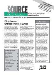 Erfolgsfaktoren für Prepaid-Karten in Europa - HAMMERSENs
