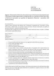 domanda ammissione autista - Atap