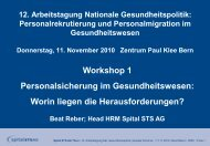 Workshop 1 - Dialog Nationale Gesundheitspolitik
