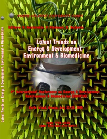LATEST TRENDS on ENERGY & DEVELOPMENT ... - WSEAS