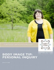 BODY IMAGE TIP: PERSONAL INQUIRY - Curvy Yoga