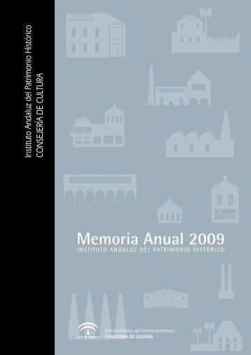 memoria2009 - IAPH. Instituto Andaluz del Patrimonio Historico