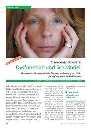 Craniomandibuläre Dysfunktion und Schwindel. GZM 8-3