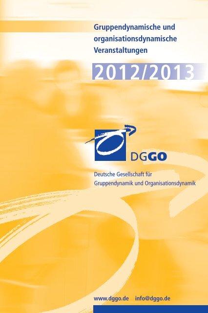 Kalender 2013 - Deutsche Gesellschaft für Gruppendynamik und ...