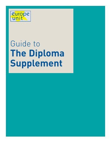 The Diploma Supplement
