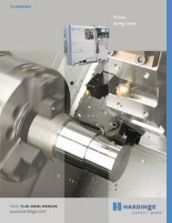 SV-Series Turning Centers - Hardinge Inc.