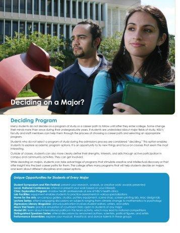 Deciding on a Major? - College of Arts and Sciences - Nova ...