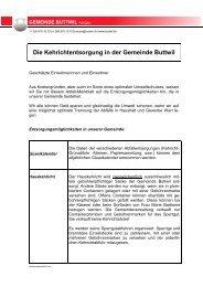 Abfallmerkblatt - Gemeinde Buttwil