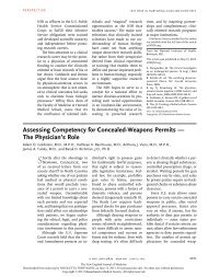 Assessing Competency for Concealed-Weapons Permits — The ...