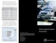 Entretien prépayé du Sprinter Mercedes-Benz - TheSprinter.ca