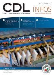 Bulletin no. 1/13 – Février 2013 - Cercle Démocratique Lausanne
