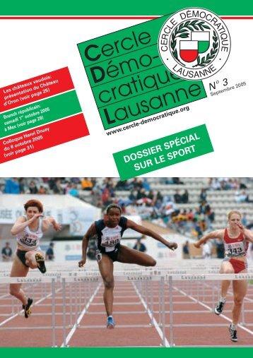 Bulletin no. 3/05 – Septembre 2005 - Cercle Démocratique Lausanne