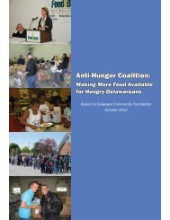 Report to AHC2010.indd - Food Bank of Delaware