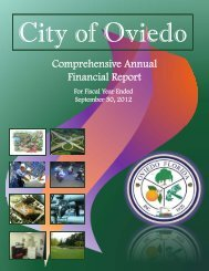 Comprehensive Annual Financial Report 2012 - City of Oviedo