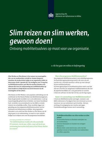 Slim reizen en slim werken, gewoon doen! - Agentschap NL