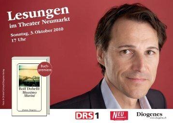 Lesungen - Rolf Dobelli