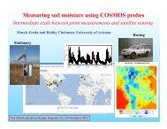 4. Measuring Soil Moisture Using COSMOS Probes (Marek ... - SMAP