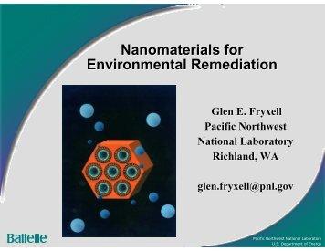 Nanomaterials for Environmental Remediation