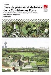 Base de plein air et de loisirs de la Corniche des Forts - IAU îdF