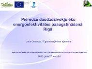 Daudzdzīvokļu ēku energoefektīvas renovācijas rezultāti Rīgā