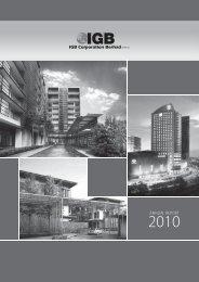 ANNUAL REPORT - IGB Corporation Berhad