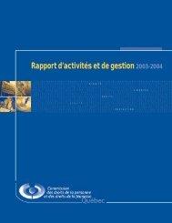 Rapport d'activités et de gestion - 2003-2004 - CDPDJ