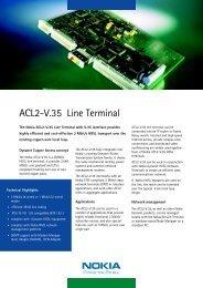 ACL2-V.35 Line Terminal - Hedin Data