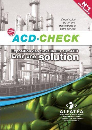 Présentation ACD-CHECK