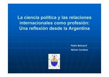 La ciencia política y las relaciones internacionales como profesión ...